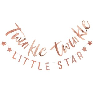 Rose Gold Twinkle Twinkle Bunting