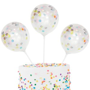 Mini Confetti Balloon Kit Cake Topper