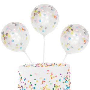 Mini Confetti Balloon Kit Cake Topper