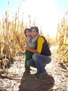 Rana Abudayyeh with her son, Jasper, in New Mexico.