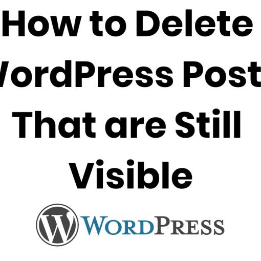 delete visible deleted wordpress posts