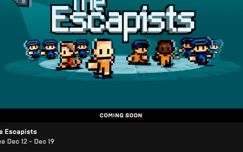 The Escapists is now free on the Epic Games Store
