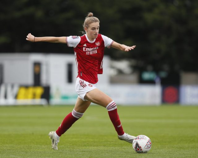 Miedema becomes first FAWSL player to hit half-century of goals as Arsenal smash Spurs