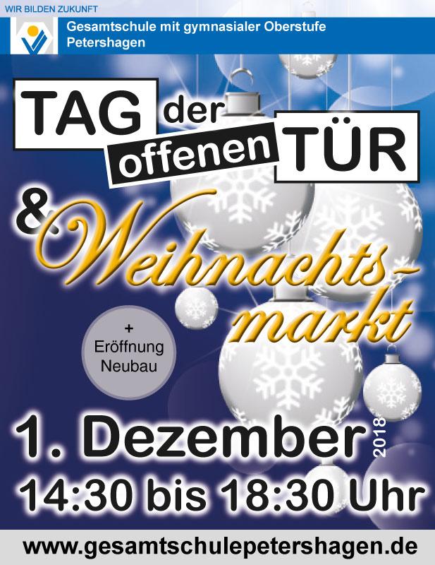 Gesamtschule Petershagen_Weihnachtsmarkt und Tag der offenen Tuer am 1. Dezember 2018