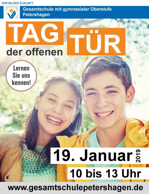 Gesamtschule Petershagen_Tag der offenen Tür am 19. Januar 2019_Plakat