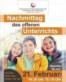 Gesamtschule Petershagen_Nachmittag des offenen Unterrichts am 21. Februar 2019