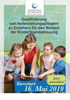 FAWZ_Qualifizierung von Heilerziehungspflegern zu Erziehern_Brückenkurs_Mai 2019