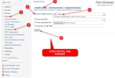 panel reseller ssh Instal XML Parser
