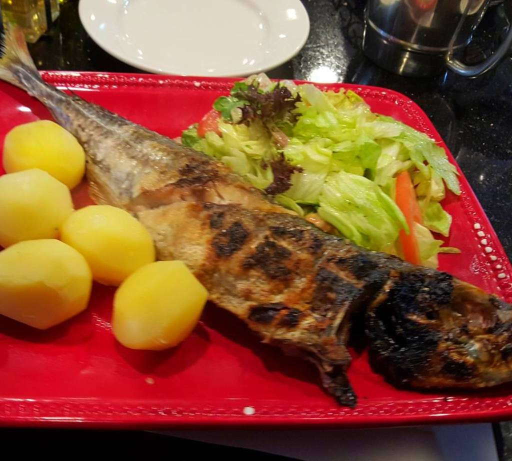 Grilled jackfish