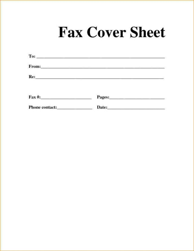 Free Printable Fax Cover Sheet Template - Sample & Examples
