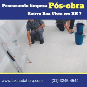 Limpeza Residencial Pós-Obra Boa Vista BH-Belo Horizonte