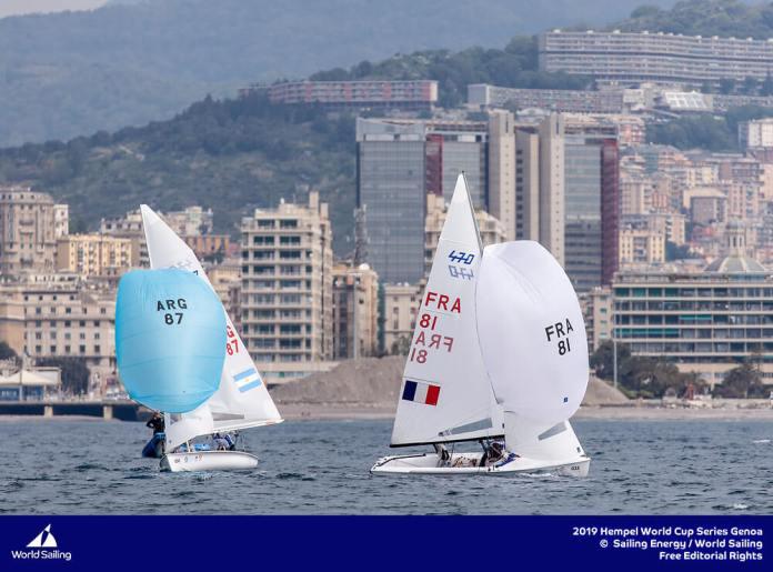 Fernando Gwozdz & Tomas Dietrich en Hempel -Genoa 2019 - Clase 470