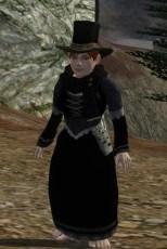Zerrissenes Kleid (schwarz)