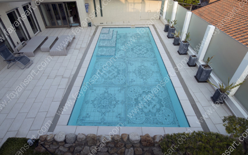 special pattern pool tiles