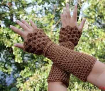 kahverengi-parmaksiz-eldiven-modeli