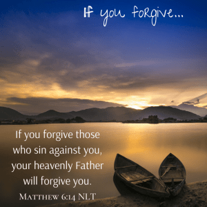 Forgive to be forgiven??