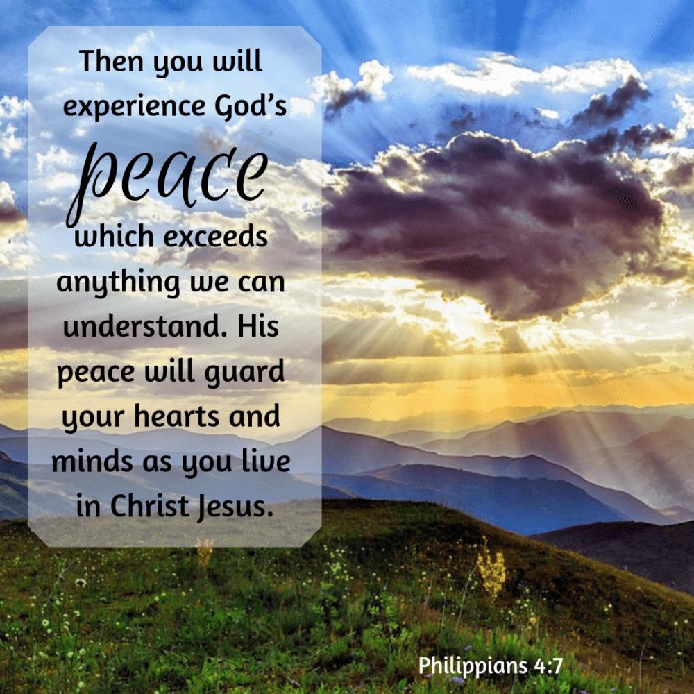 Then, peace.