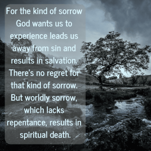 God wants us to experience sorrow!