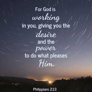 Drumming up the desire to do God's will