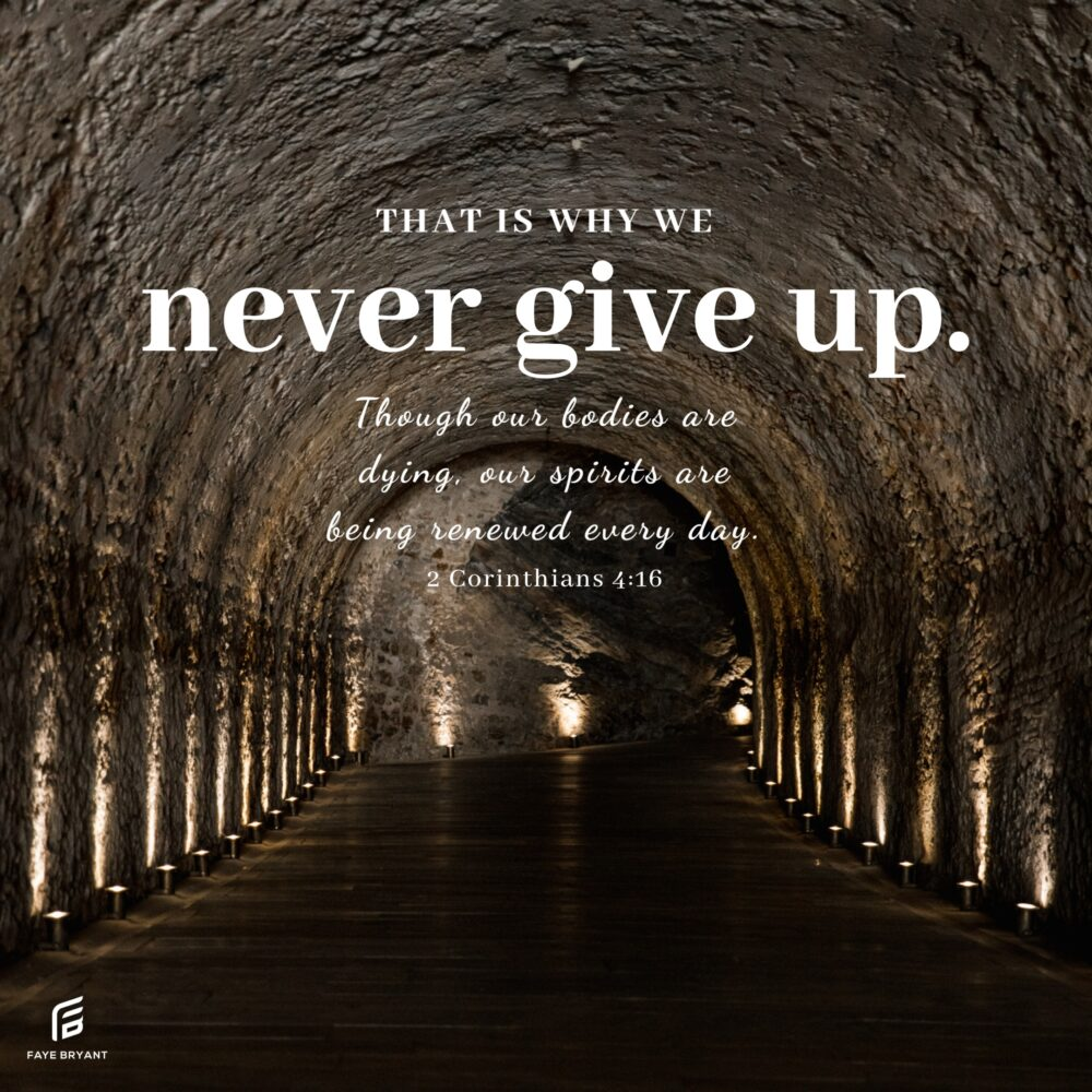 Never give up? Why not?