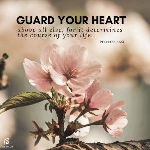 Guard, protect, and guide your heart!