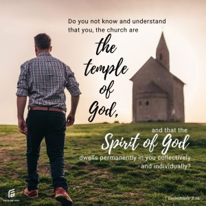 Don't you know where God's temple is?