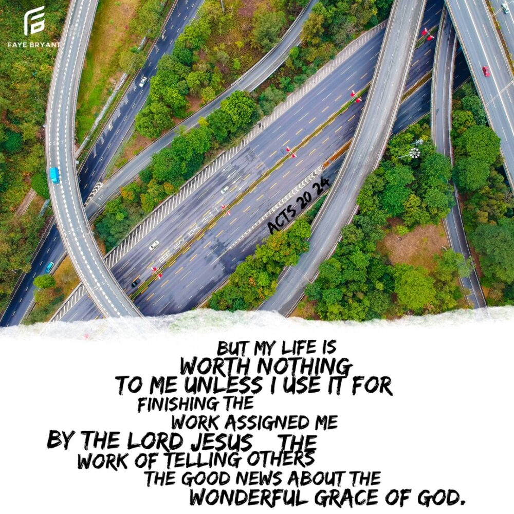 Step onto your God-path and walk. Finish the work assigned you by the Father.