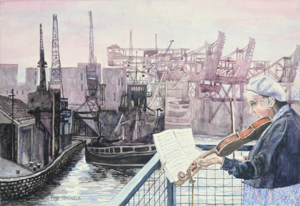 The watercolour painting,'Harland Sonata' by Faye Edmondson