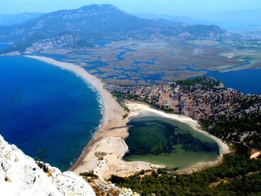Turkey Dalyan View of Iztuzu Beach from Radar Hill