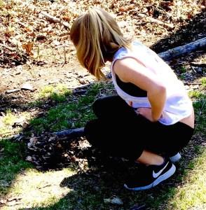 Zoe Burying the Frog