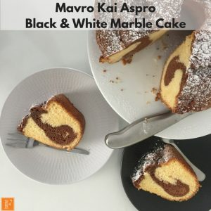 Greek Black and White Marble Cake