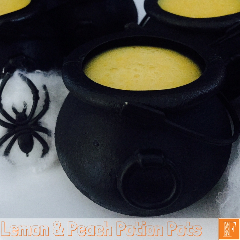 Lemon and Peach Potion Pots – Halloween Recipe For Your Thermomix