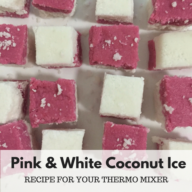 Pink and White Coconut Ice Thermomix
