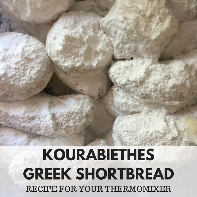 Kourabiethes Greek Shortbread Biscuits – Recipe For Your Thermomix