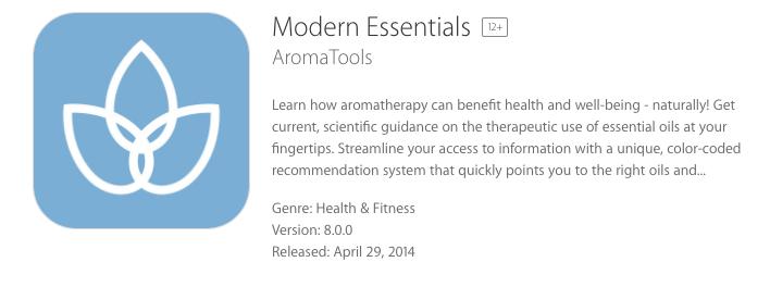 Modern Essentials Aromal Tools App
