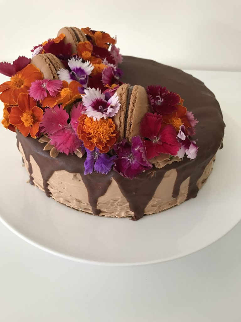 Chocolate Buttermilk Flower Cake