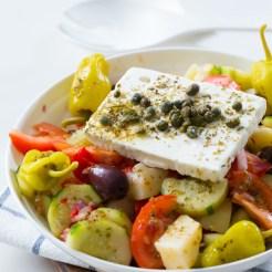 Thermomix Greek Salad with Potato