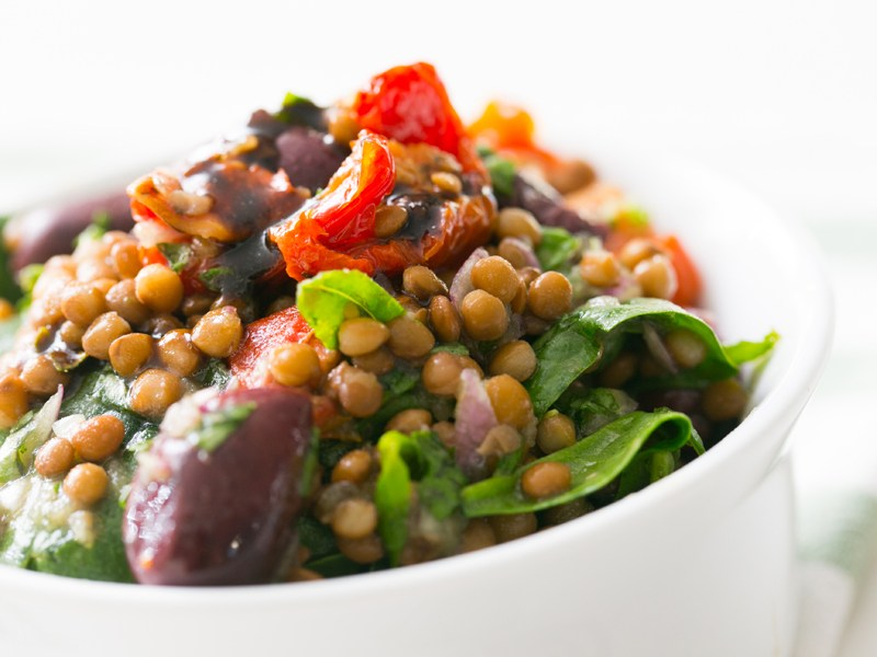 Thermomix Sun-dried Tomato and Lentil Salad