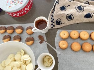 Chocolate Dipped Butter Biscuits