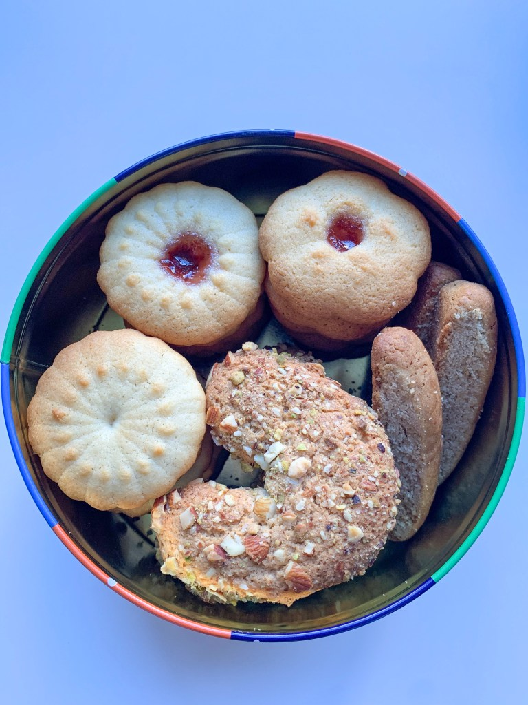 Tin of biscuits