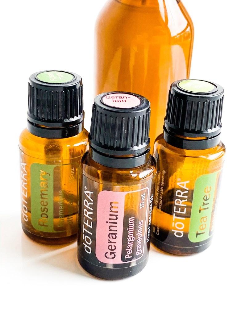 dōTERRA essential oils rosemary, geranium , tea tree