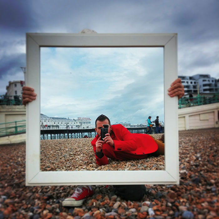 Instagram photo project set in different locations around Brighton created by FayJay.