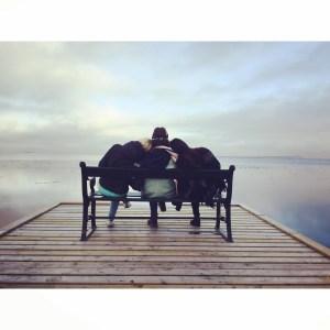 Best friend on bench