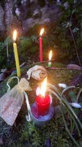 Imbolc ceremony candles
