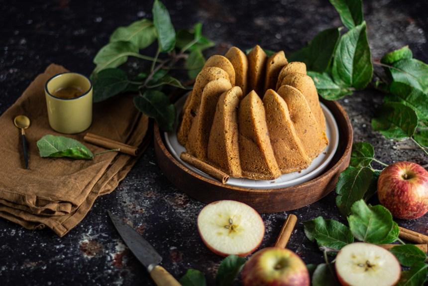 bolo de maçã