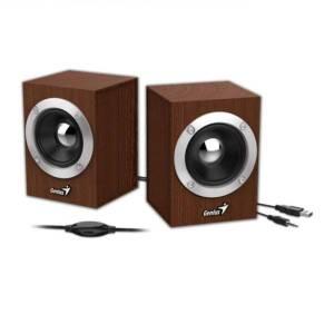 genius sp hf280 speakers 2 0ch 6w 3 brown 1