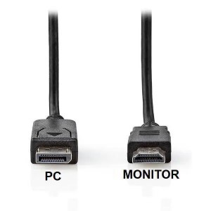 DisplayPort Μ HDMI Μ 2m CCGT37100BK20