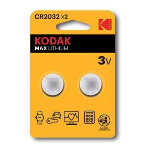 KODAK MAX LITHIUM CR2032 X2