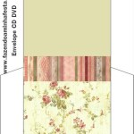 Envelope CD DVD Floral Vintage: