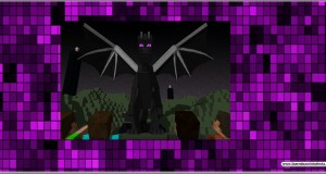 Molde rótulo Ender Dragon Minecraft Personalizado para festa
